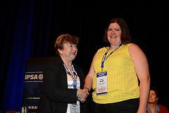 Me at IPSA 2014 Closing Ceremony receiving my award