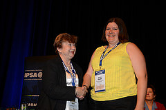 Me at IPSA 2014 Closing Ceremony receiving my award